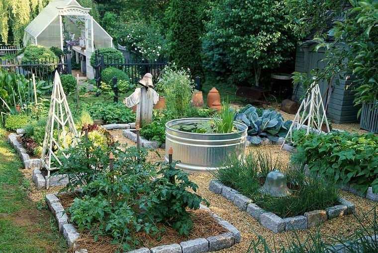 decoración de jardines con pequeño estanque