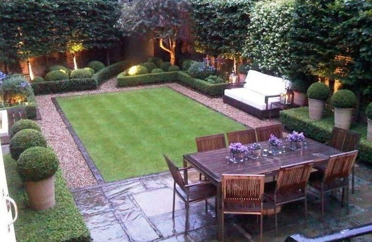 decoración de jardines elegantes