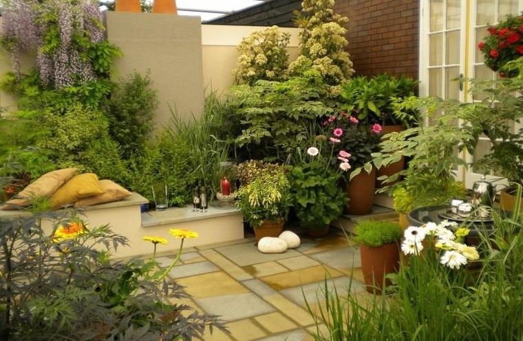 decoración de jardines espacio zen