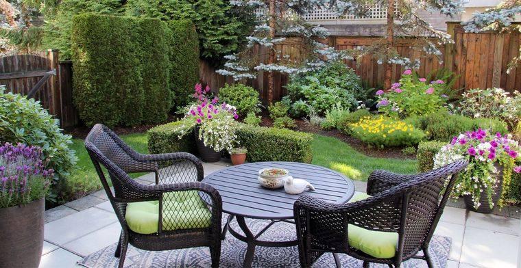 decoración de jardines maximizando espacios