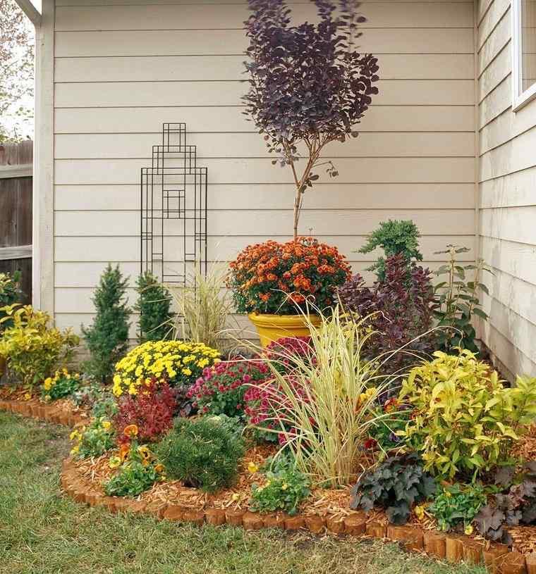 decoración de jardines rincones floreados