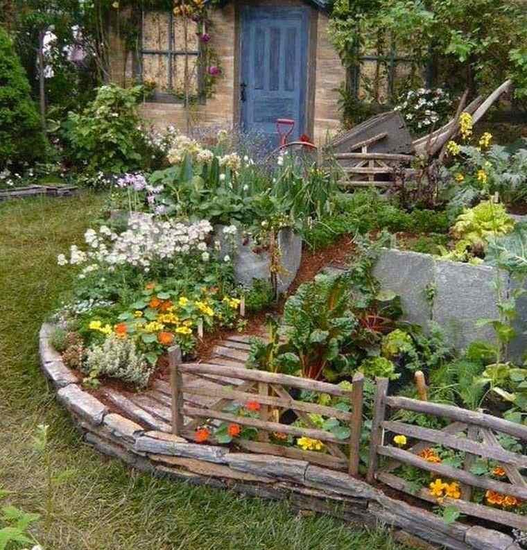 decoración de jardines rusticos