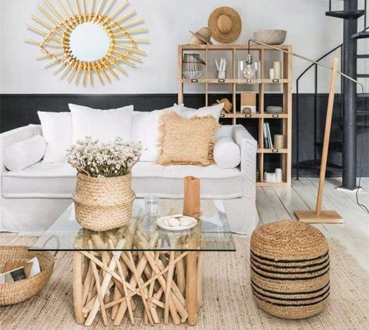 decoración natural con elementos organicos