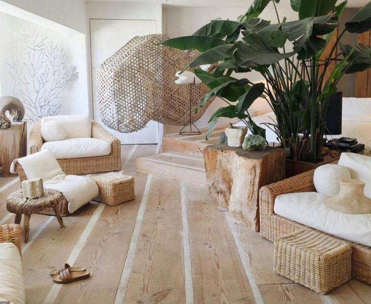 decoración natural con madera