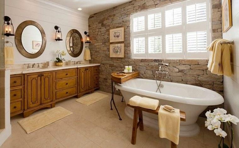 decoración natural en baño