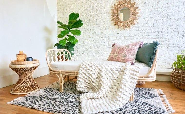 decoración natural muebles ratan