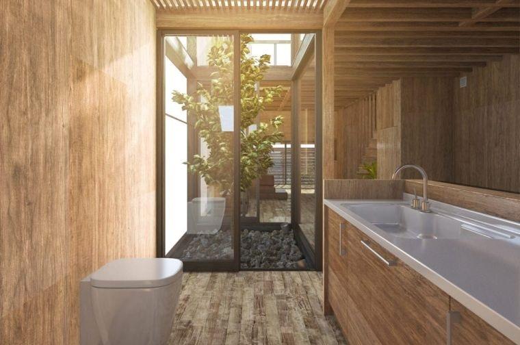 decoración natural para baño