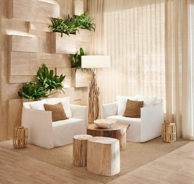decoración natural pared decorada