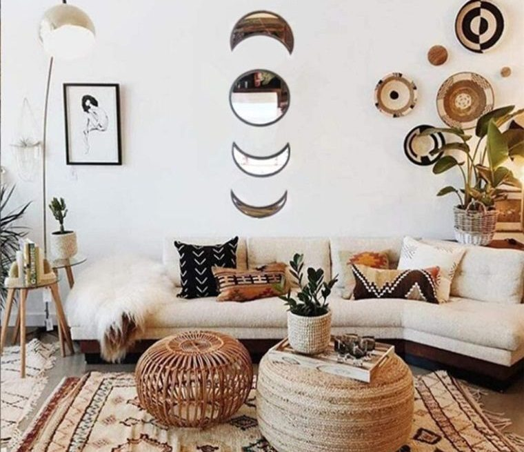 decoración natural pequeña sala de estar