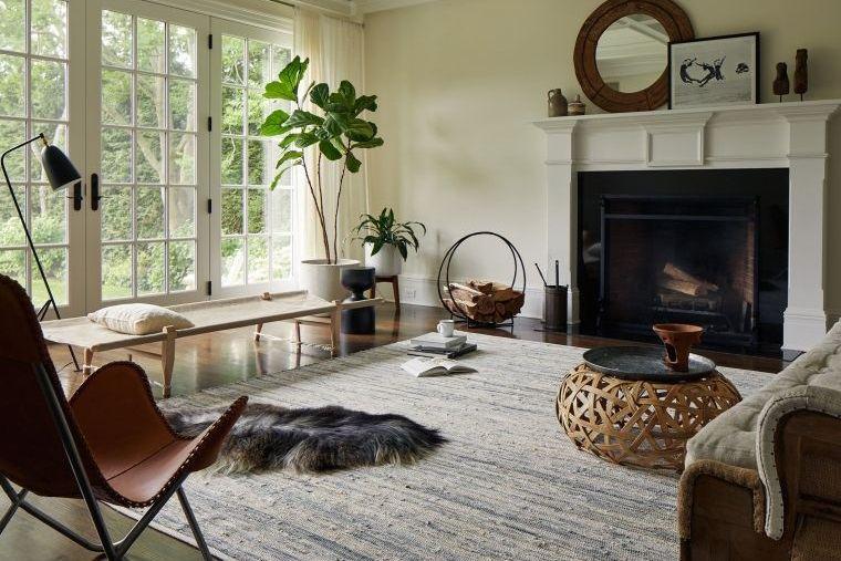 decoración natural sala de estar