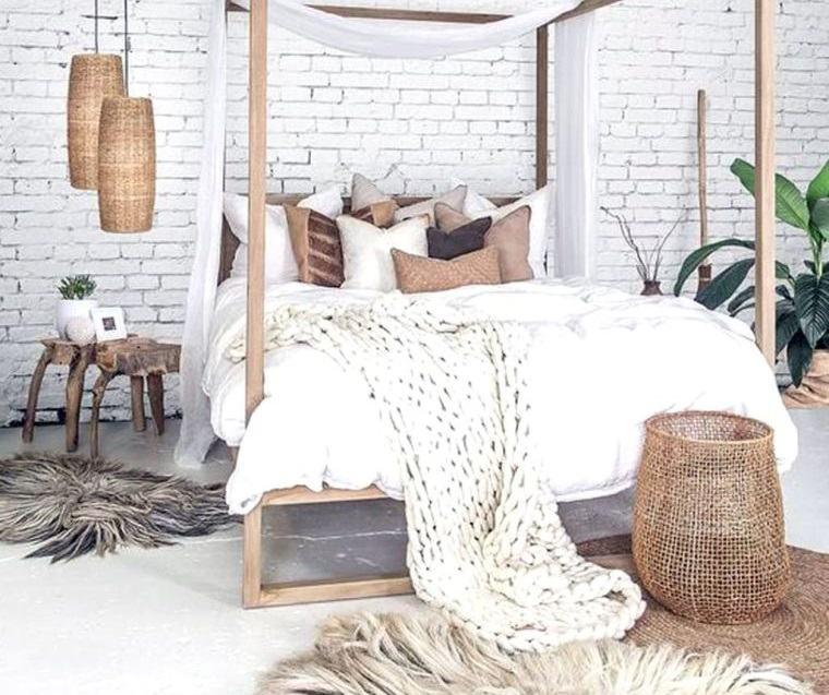 decoración natural textura dormitorio