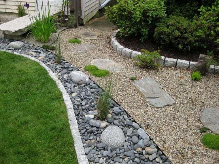 Jardín seco contemporaneo-decorar-piedras