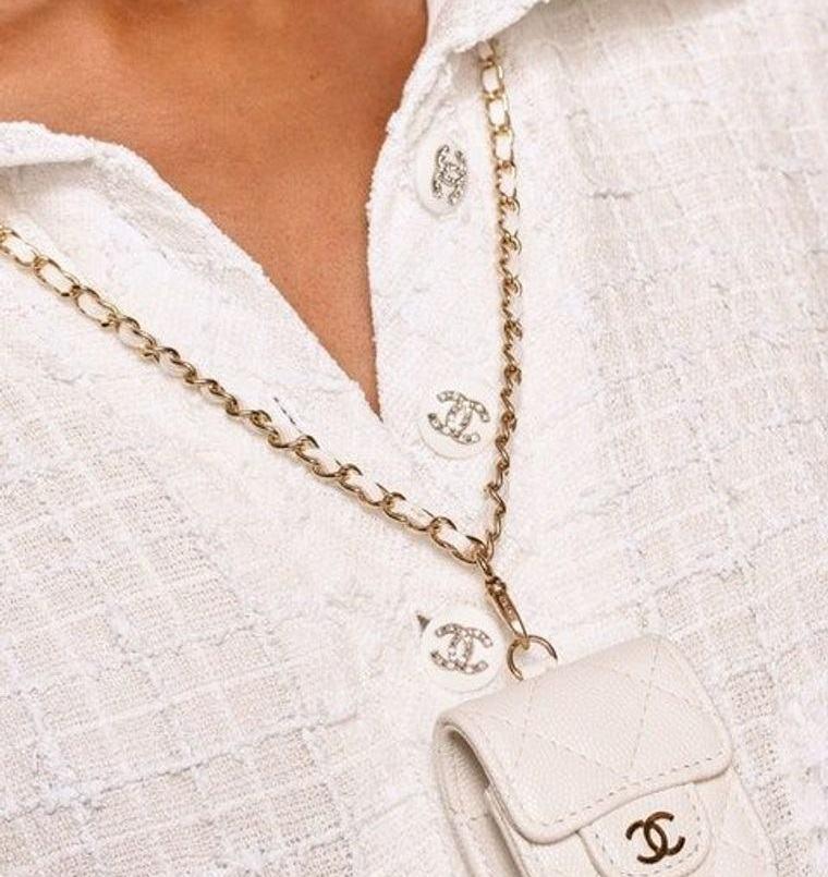 joyería collar con diseño de bolsa