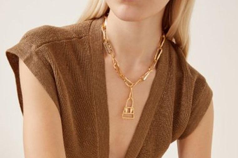 joyería de oro diseño cadena