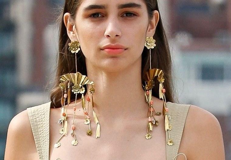 joyería largos aretes femeninos