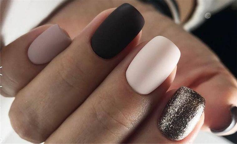 manicura elegante diferentes colores