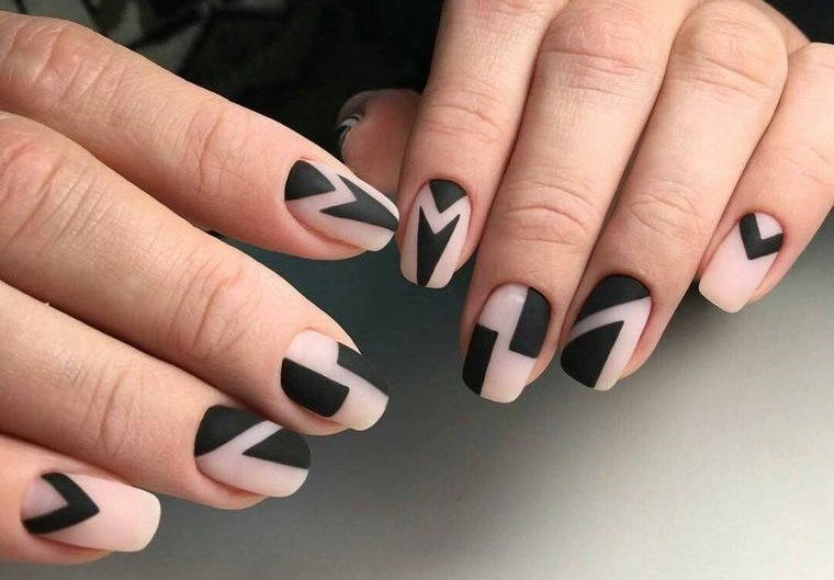 manicura elegante formas geometricas