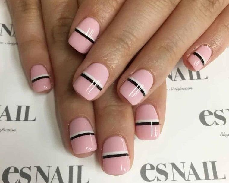 manicura elegante uñas cortas