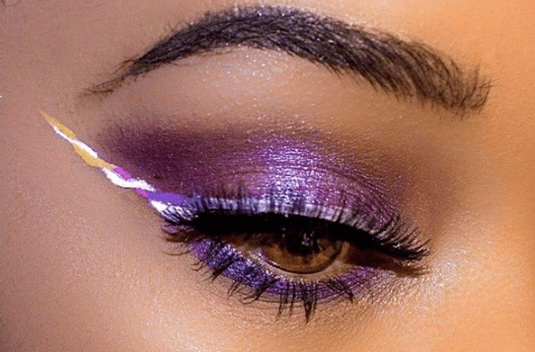 maquillaje delineado diferentes tonos