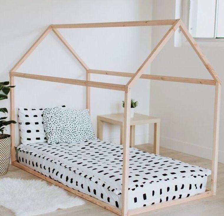 palets cama casita montessori