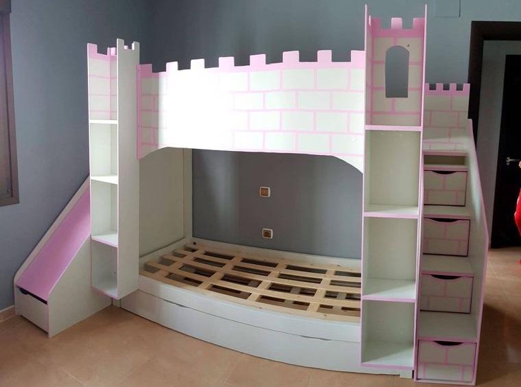 palets cama castillo