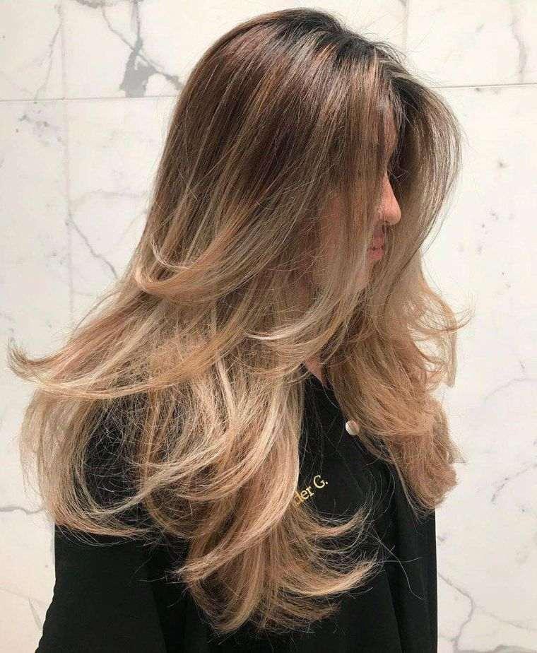 peinados para verano capas largas