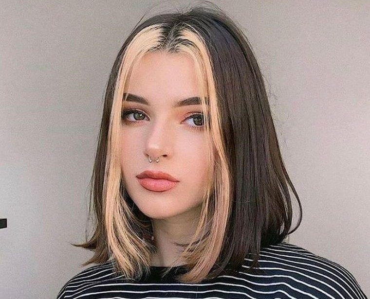 peinados para verano dos colores