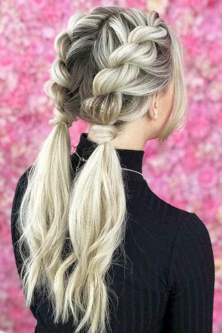 peinados para verano trenzas con cola