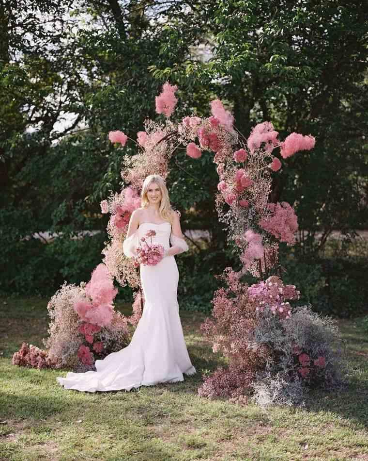 arca-boda-flores-rosa