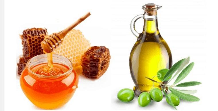 cuidado del cabello con miel aceite de oliva