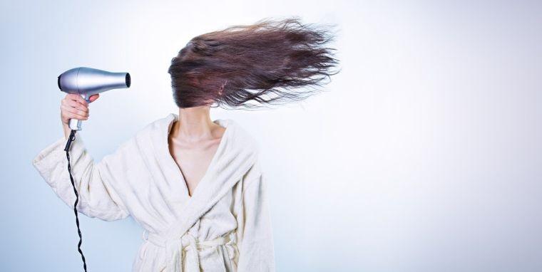 cuidado del cabello menos secador