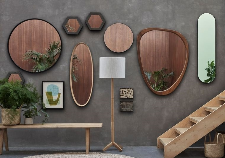 decoración con espejos asimetricos