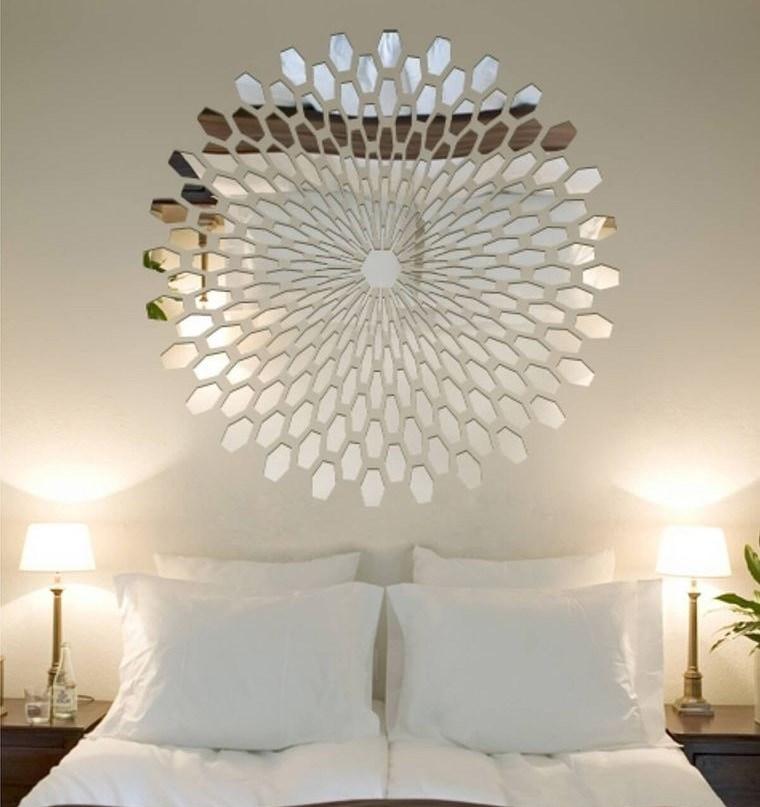 decoración con espejos en dormitorio