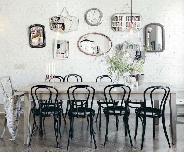 decoración con espejos estilo informal