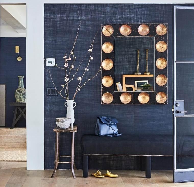 decoración con espejos para entrada