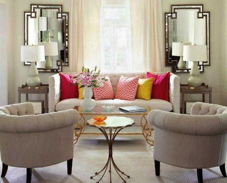 decoración con espejos para sala de estar