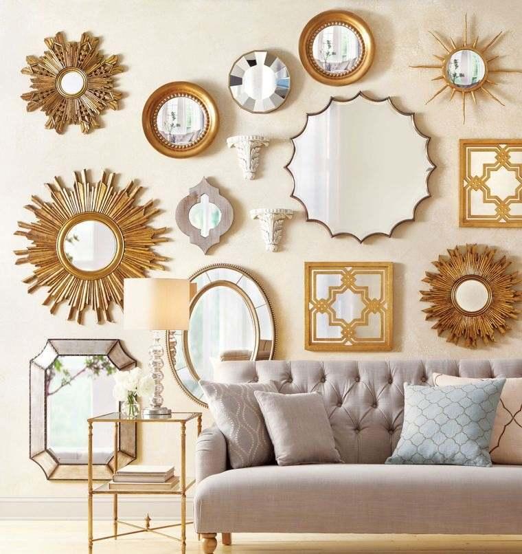 decoración con espejos pared de declaracion