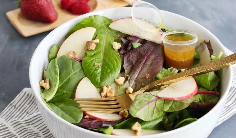 frutos secos ensalada frutas con vinagreta