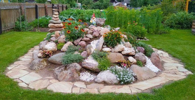 jardín de rocalla diseño hermoso