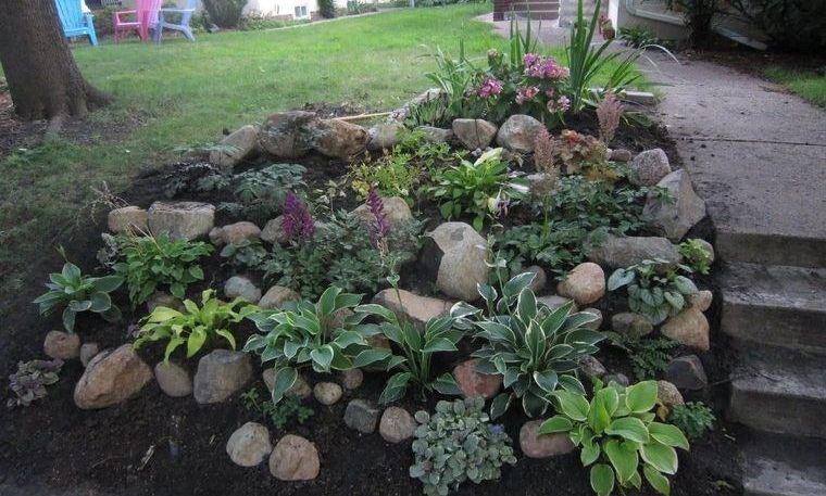 jardín de rocalla diseño pequeño