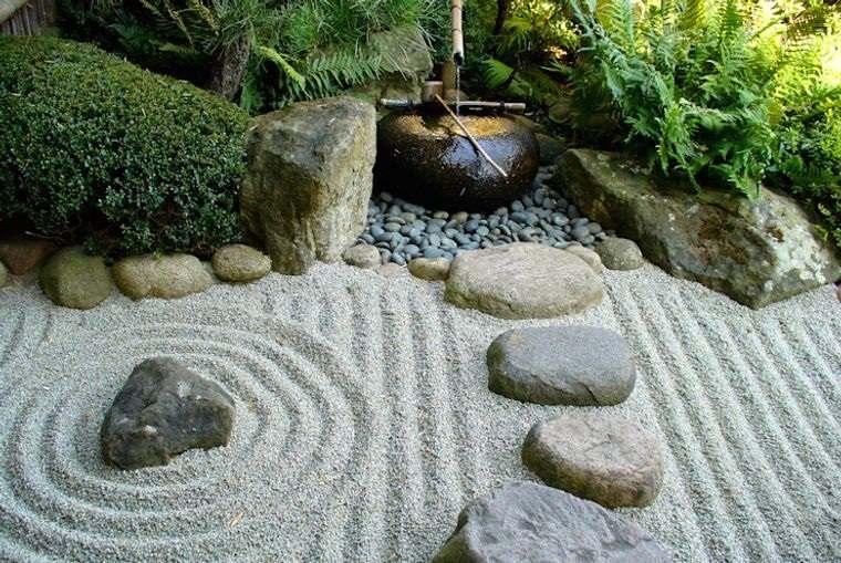 jardín de rocalla diseño zen