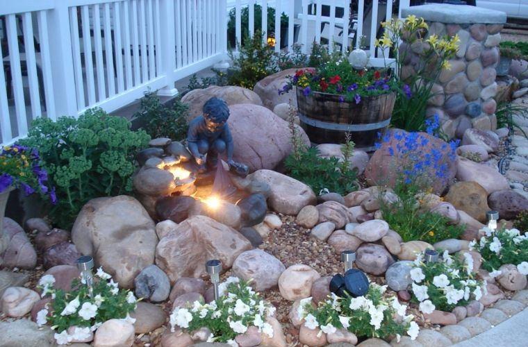 jardín de rocalla pequeño espacio