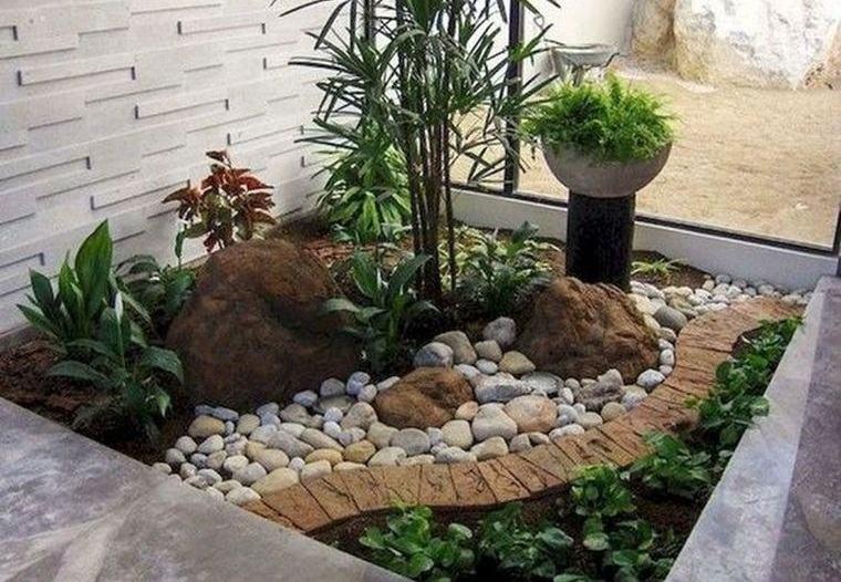 jardín de rocalla se adapta al espacio