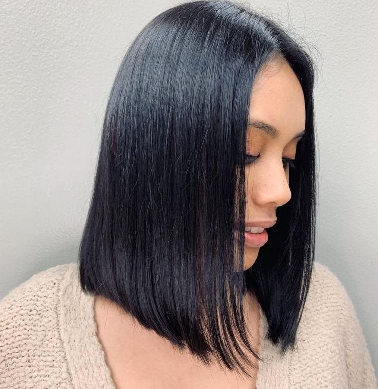 peinados media melena bob recto
