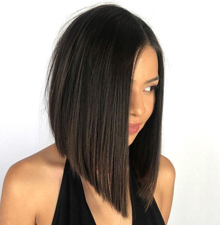 peinados media melena lob forma de A