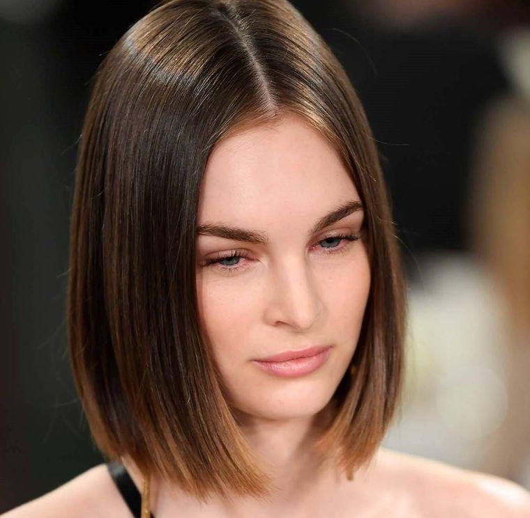 peinados media melena rostro alargado