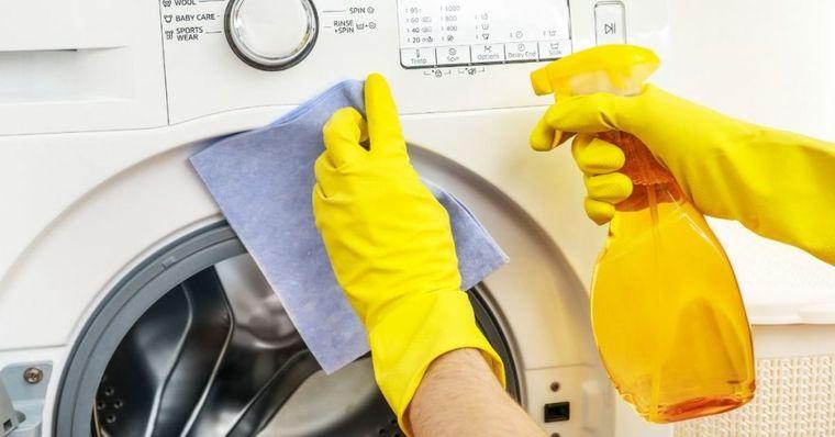 cómo limpiar la lavadora por fuera