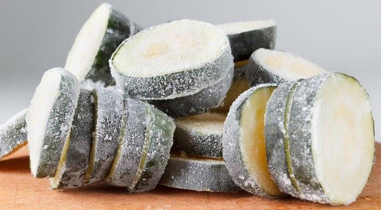 congelar calabacín en rodajas