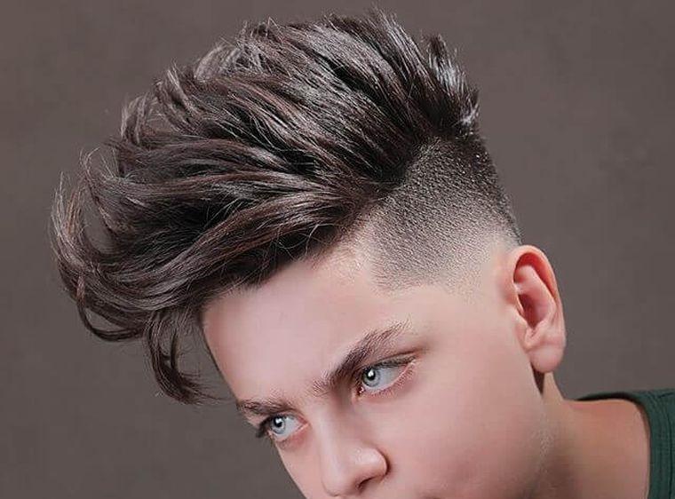 cortes de pelo para chicos largo parte superior