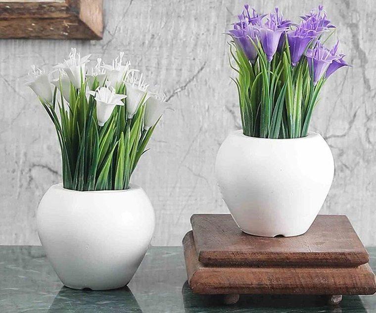 flores artificiales decoracion sencilla